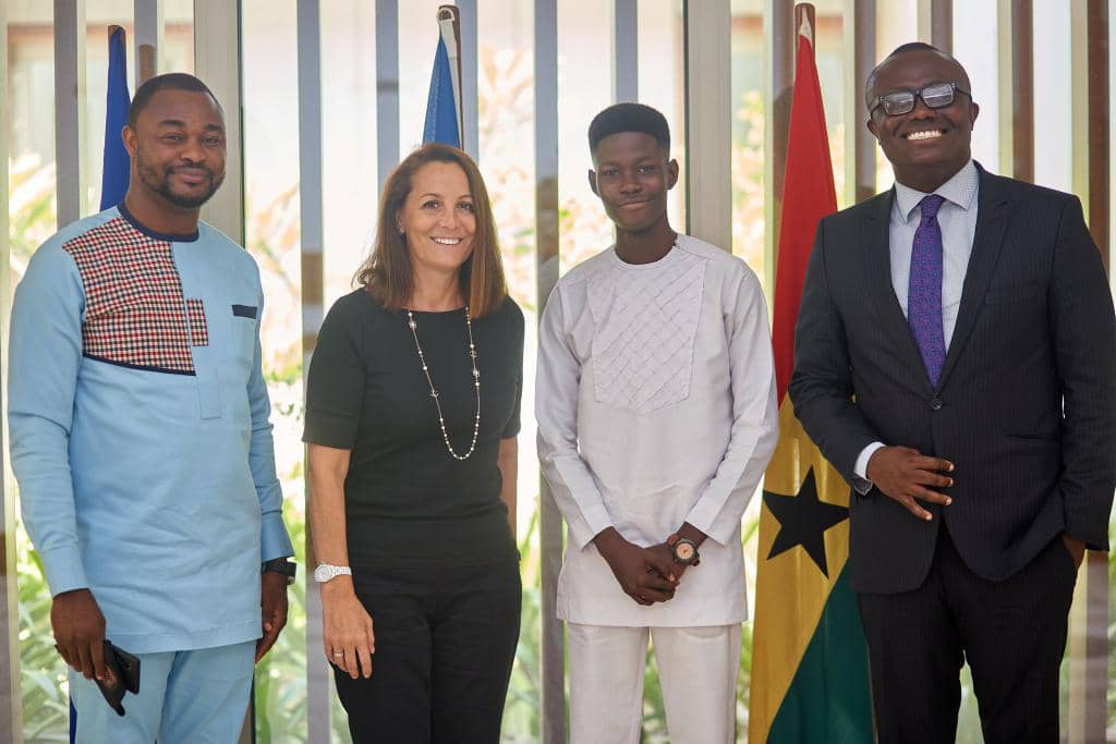 Legon Cities board chair meets French ambassador to Ghana