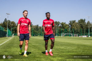 PHOTOS: Ghanaian attacker Yaw Yeboah commence training at Wisla Krakow