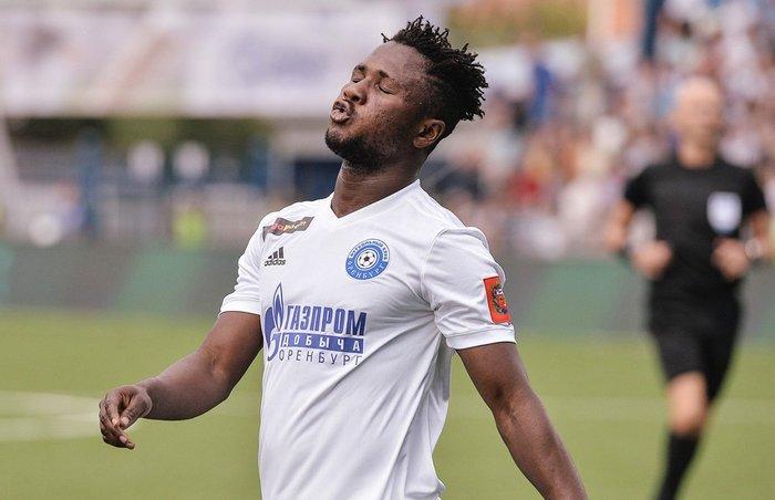 Joel Fameyeh on the scoresheet for FC Orenburg