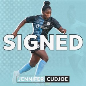 Jennifer Cudjoe inks permanent contract with US outfit Sky Blue FC