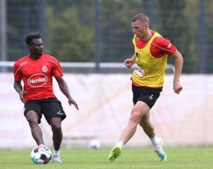 Fortuna Düsseldorf players stunned by built-up muscles of teenager Kelvin Ofori