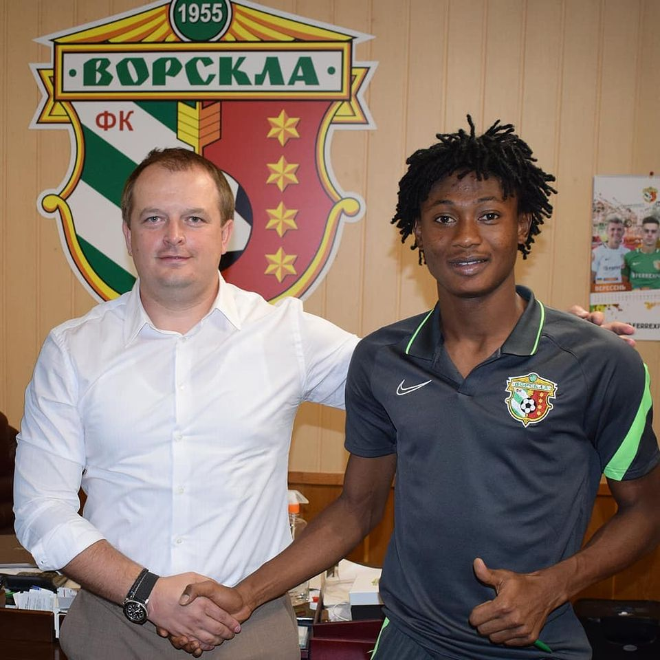 Youngster Najeeb Yakubu signs contract extension with FC Vorskla Poltava