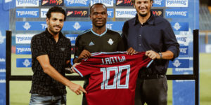 Striker John Antwi honored by Pyramid FC for 100 goals achievement