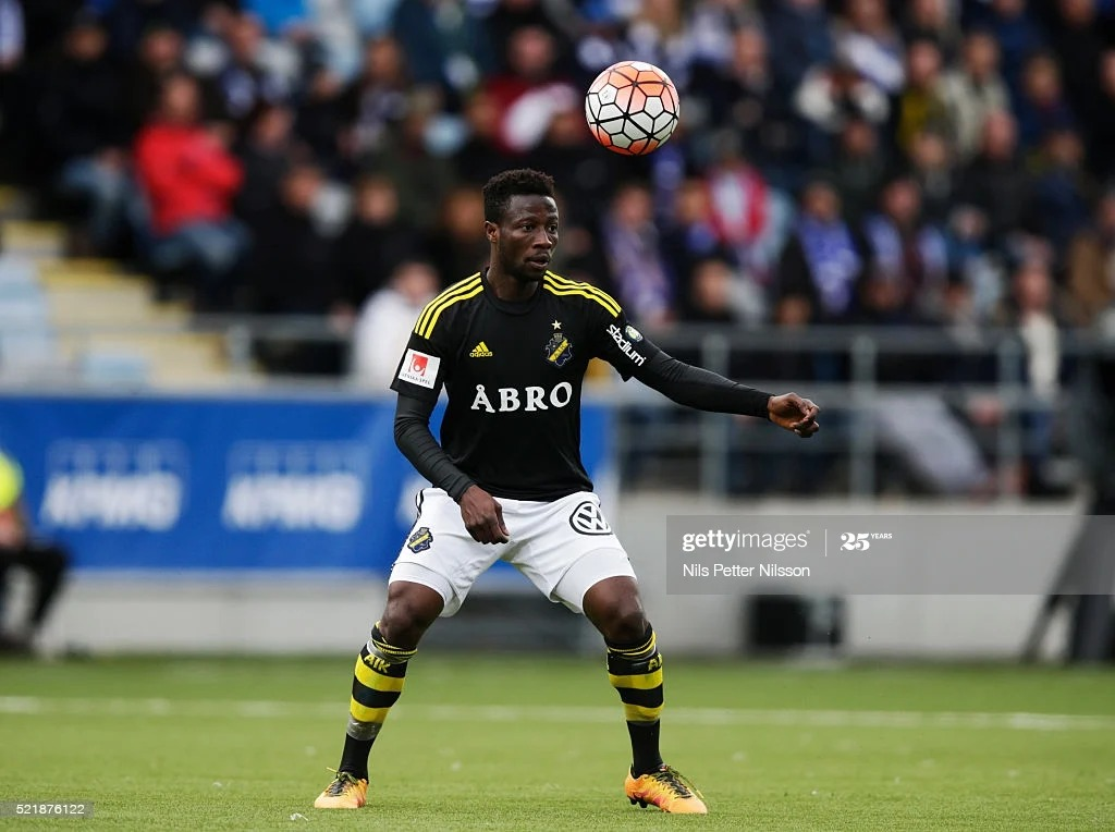 Ebenezer Ofori sees red card in AIK's away draw against Malmo