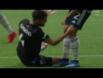 BIZARRE RED CARD: KNEE PUNCH results in a Penalty Kick