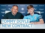 TOMMY DOYLE SIGNS A NEW CONTRACT AT MANCHESTER CITY! | INTERVIEW