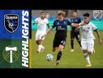 San Jose Earthquakes vs. Portland Timbers | MLS Highlights | September 16, 2020