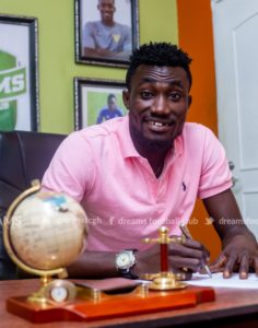 Striker Agyenim Boateng sets sight on scoring more goals for Dreams FC to win goal king