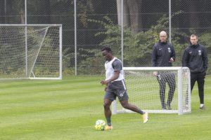 PHOTOS: Clinton Antwi begins training at Esbjerg fB