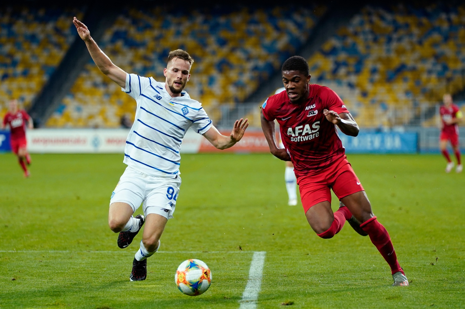 Myron Boadu in action as AZ loses 2-0 to Dynamo Kyiv in UCL third qualifying round