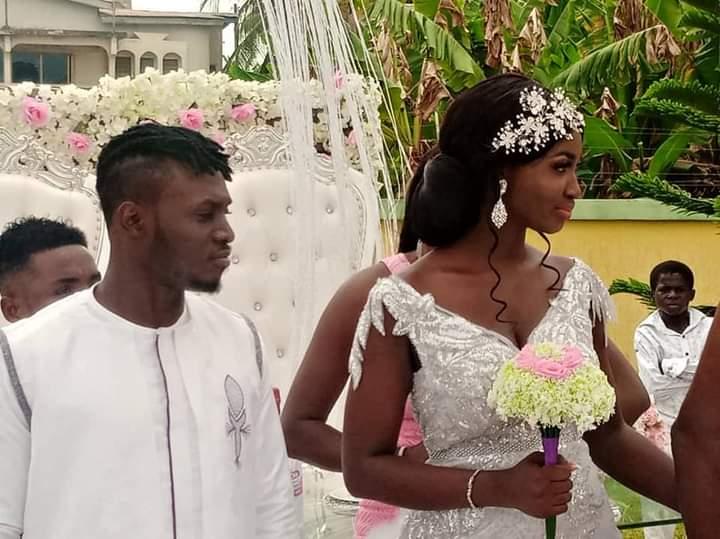 PICTURES: Asante Kotoko striker William Opoku Mensah marries sweetheart Rebecca Krah