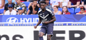 Enock Kwarteng reacts to Bordeaux win against Lens