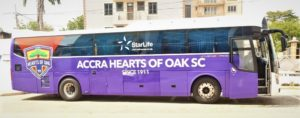 Hearts of Oak takes delivery of newly-branded 47-seater bus