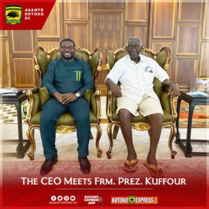 Kotoko CEO pays courtesy call on former president J.A Kufuor