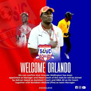 Orlando Wellington appointed as Wa Suntaa SC head coach