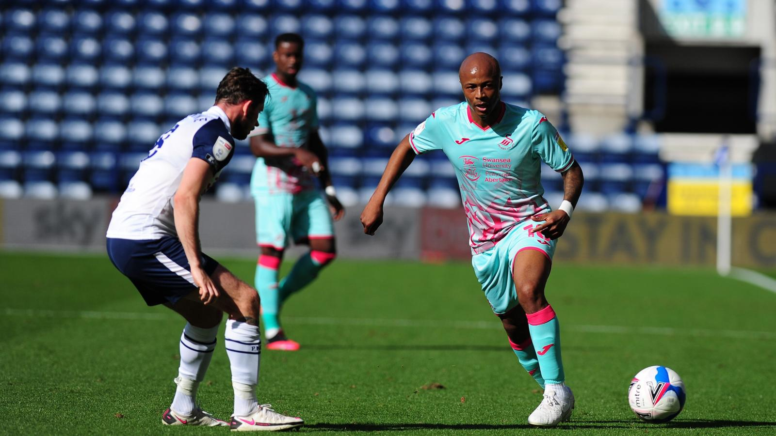 Andre Ayew features for Swansea City in narrow away win against Preston North End