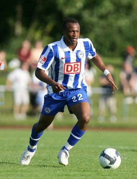 Picture of Ghana captain Andre Ayew at trials at Hertha Berlin emerges