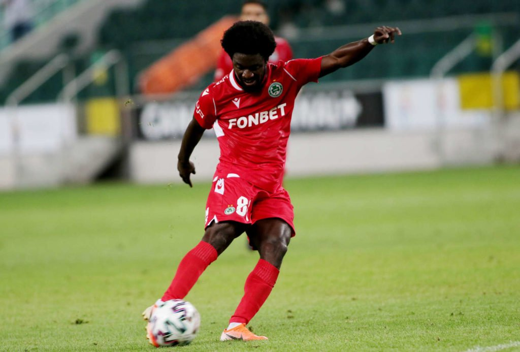 Ernest Asante features for Omonia Nicosia in Champions League playoff