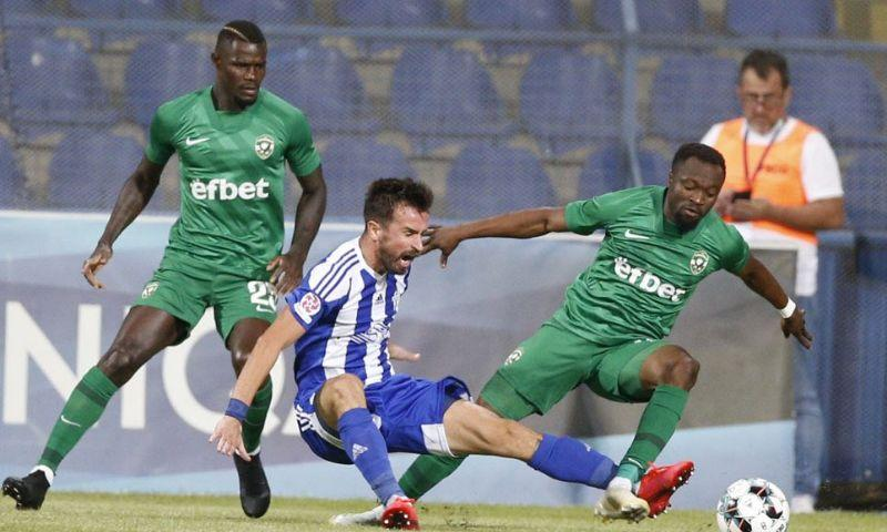 Bulgaria: Bernard Tekpetey loses his cool after receiving a red card