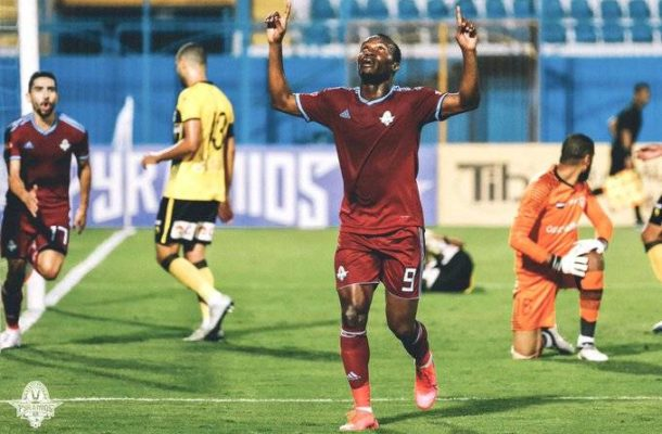 Forward John Antwi on the scoresheet again in Pyramids FC win