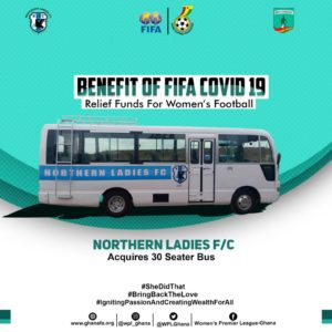 Northern Ladies FC acquire new bus with cash from FIFA Covid-19 relief fund