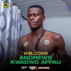 Kotoko sign defender Appau Kwadwo Andrews to bolster squad