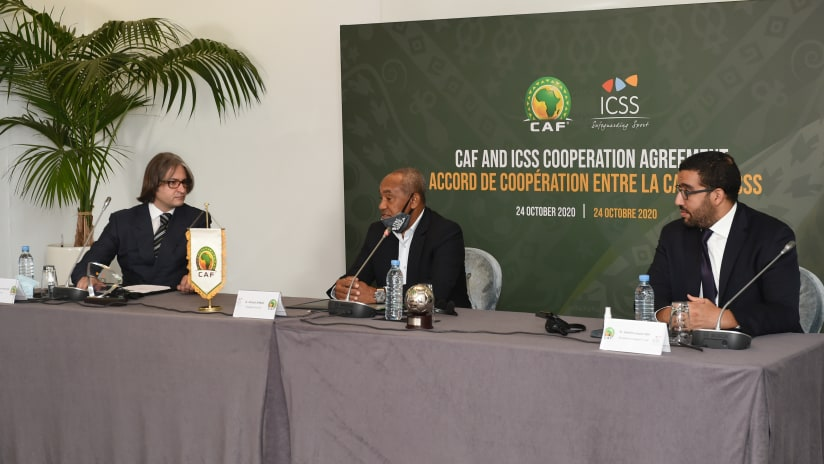 CAF pens partnership agreement with International Centre for Sport Security (ICSS)