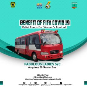 Fabulous Ladies purchase new bus with part of FIFA Covid-19 Relief Fund