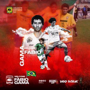 OFFICIAL: Kotoko sign Brazilian midfielder Fabio Dos Santos Gama