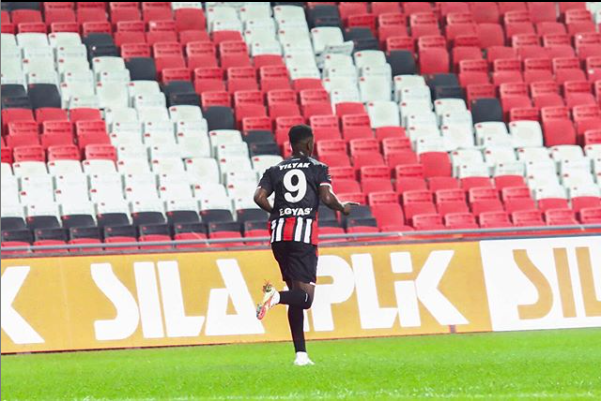Edwin Gyasi elated with his Samsunspor debut goal against Ankara Keçiorengucu