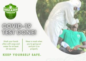 Dreams FC players, officials undergo mandatory Covid-19 test