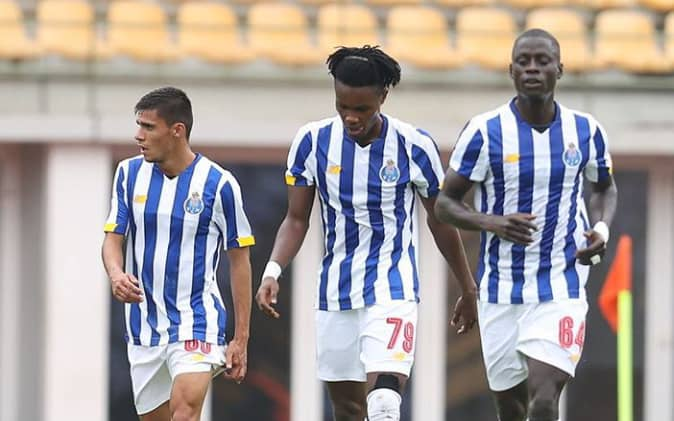 Ghanaian youngster Kelvin Owusu Boateng scores for FC Porto B against Casa Pia