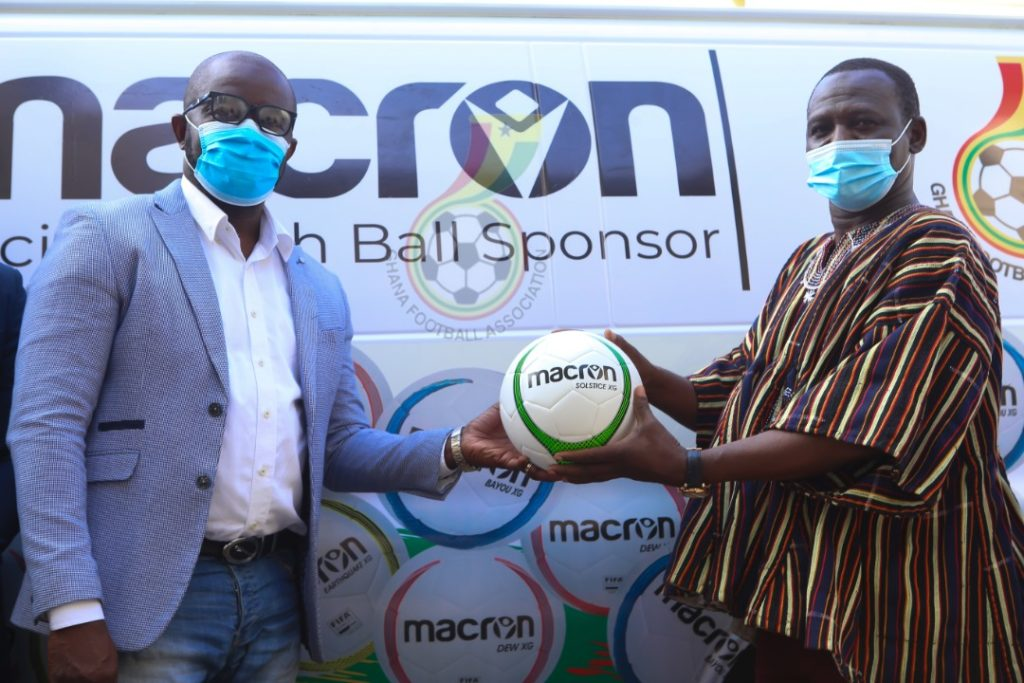 Ghana FA takes delivery of Macron footballs and bibs ahead of new season