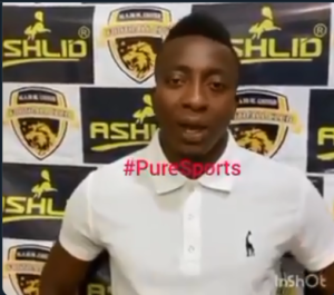 Elated Felix Annan pledges to promote Ashlid Enterprise after signing 1-year deal