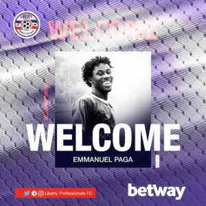Liberty complete the signing of prolific striker Emmanuel Paga