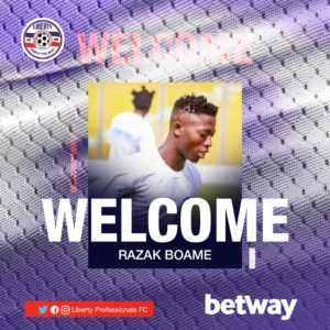 Liberty Professionals sign Razak Boame from Bechem Utd