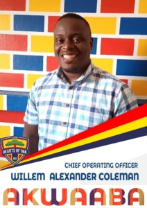 Hearts of Oak names Willem-Alexander Coleman as chief operations officer