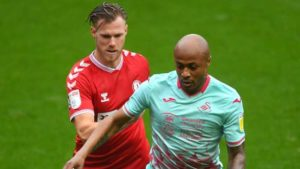 Ghana skipper Andre Ayew in action as Swansea draw against Bristol City
