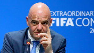 """We need to face the problems in football together""- FIFA chief Infantino"
