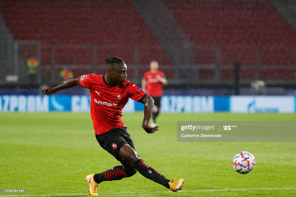VIDEO: Jeremy Doku's first goal for Rennes