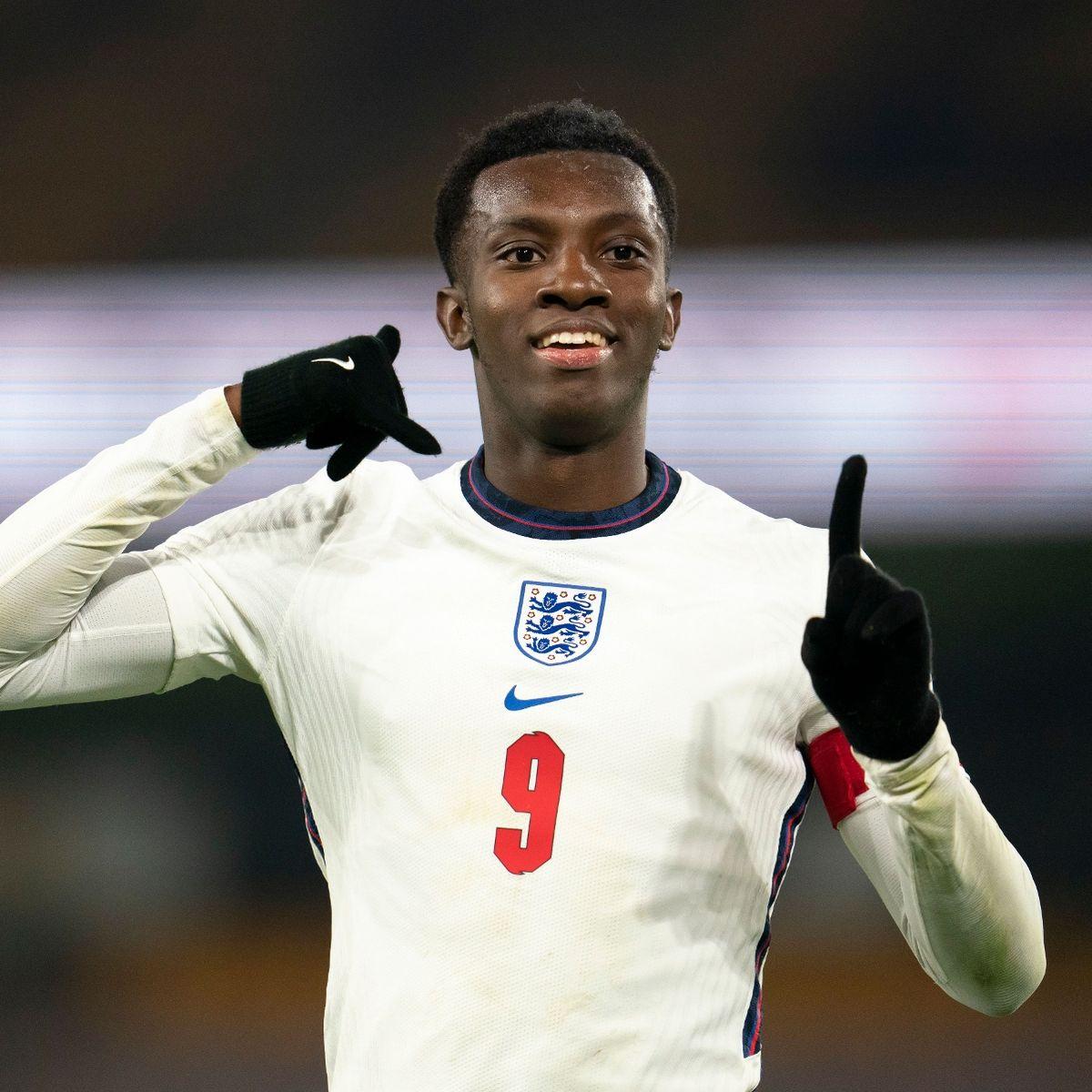 Nketiah scores twice for England U21 against Albania