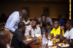 PHOTOS: Legon Cities FC players dine with management ahead of season opener