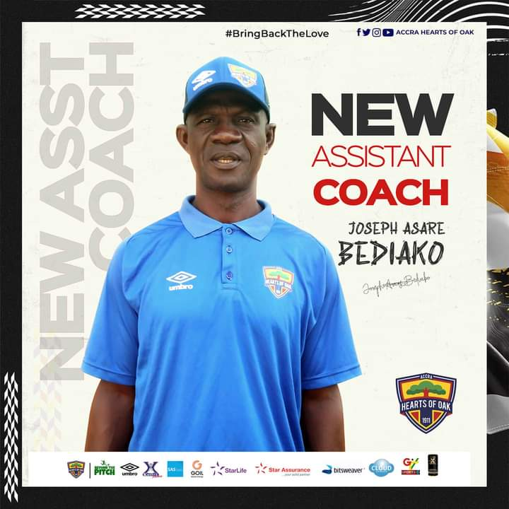 OFFICIAL: Hearts of Oak confirm Asare Bediako as new assistant coach