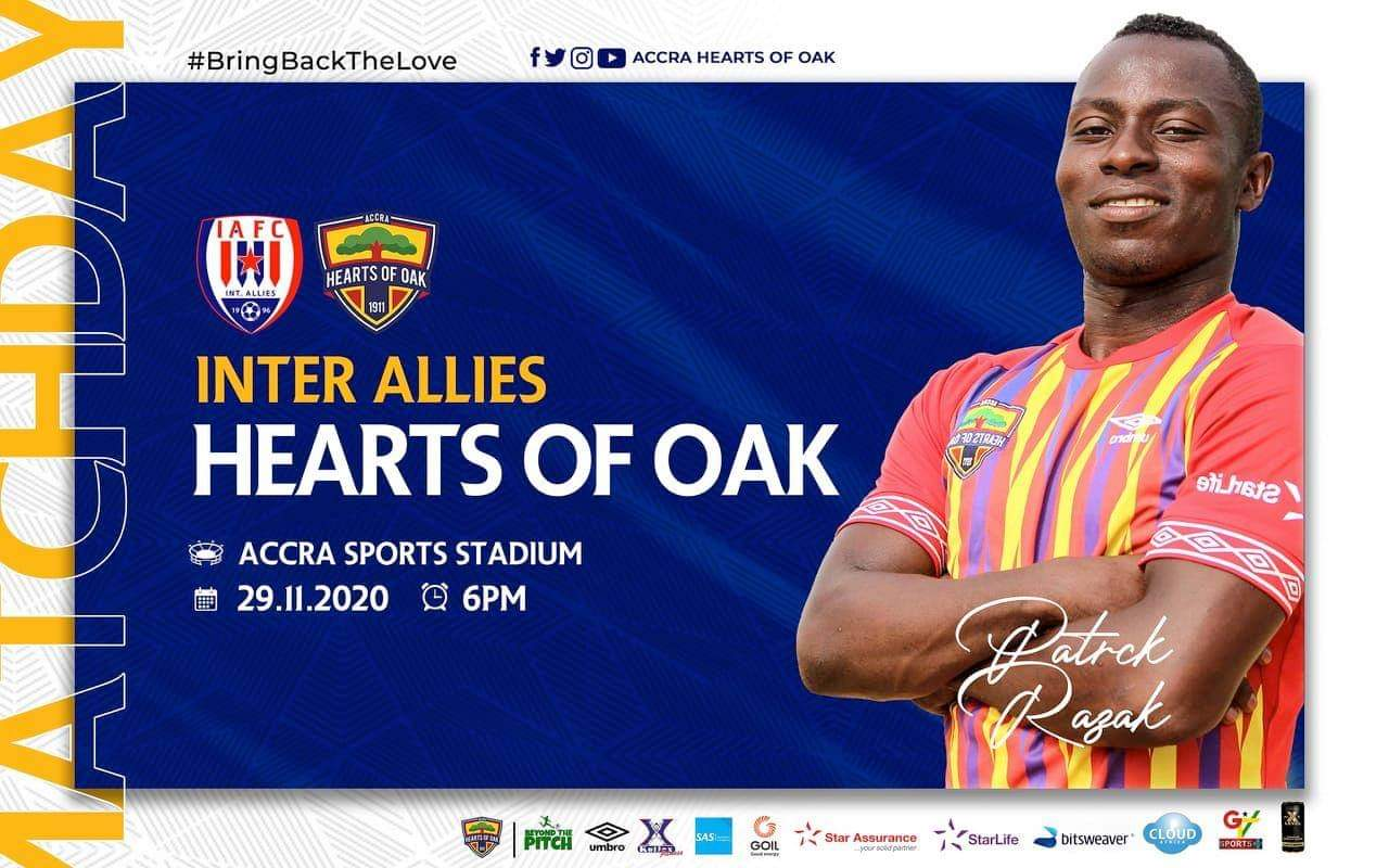 20/21 Ghana Premier League: Inter Allies FC v Hearts of Oak matchday 3 preview