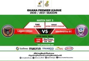 LIVE UPDATES: Legon Cities FC 0-0 Medeama SC - Ghana Premier League matchday 3