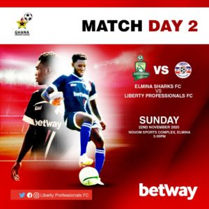 20/21 Ghana Premier League: Elmina Sharks v Liberty Professionals matchday 2 preview