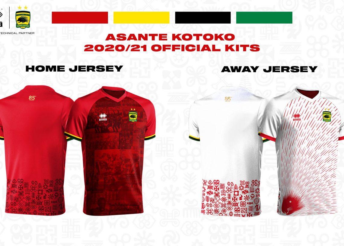 Errea announce prices for new Asante Kotoko jerseys