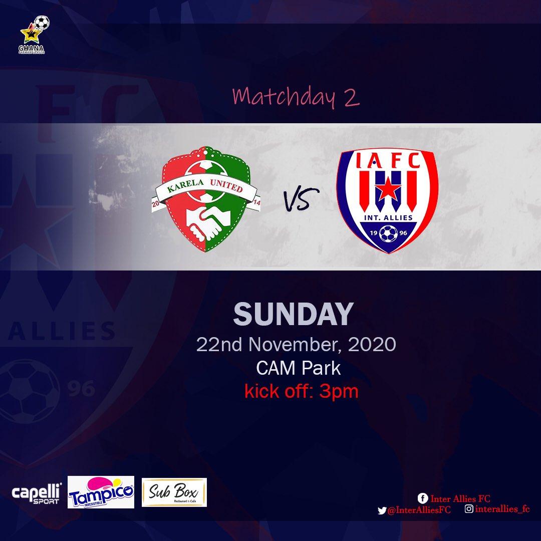 20/21 Ghana Premier League: Karela United v Inter Allies FC matchday 2 preview