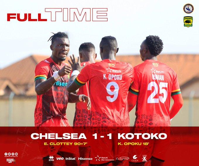 20/21 Ghana Premier League: Berekum Chelsea draw 1-1 against Asante Kotoko