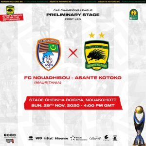 20/21 CAF CL: Kotoko confirm clash against FC Nouadhibou has been moved to Sunday